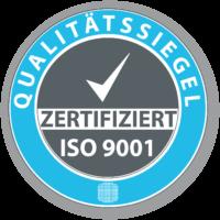 Qualitätssiegel ISO 9001